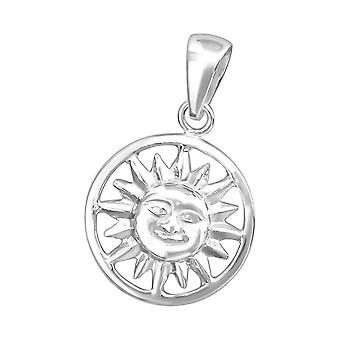 Sun - 925 Sterling Silver Plain Pendants - W36740x