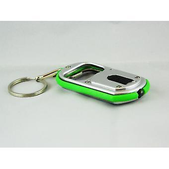 Keyring/bottle opener key chain With LED lamp (green)