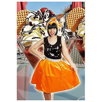 Tutu Petticoat Shop Frauen Orange Retro-Rock und Schal