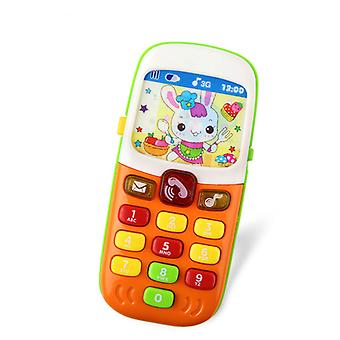 Children's electronic mobile phone with Sound smart phone Mobile Early toys educational toys Baby toys random colors