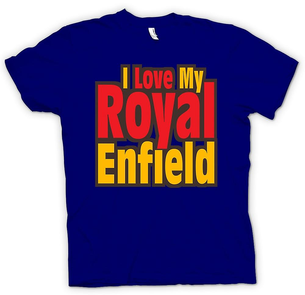 Hommes T-shirt - I Love My Royal Enfield - Moto - Biker