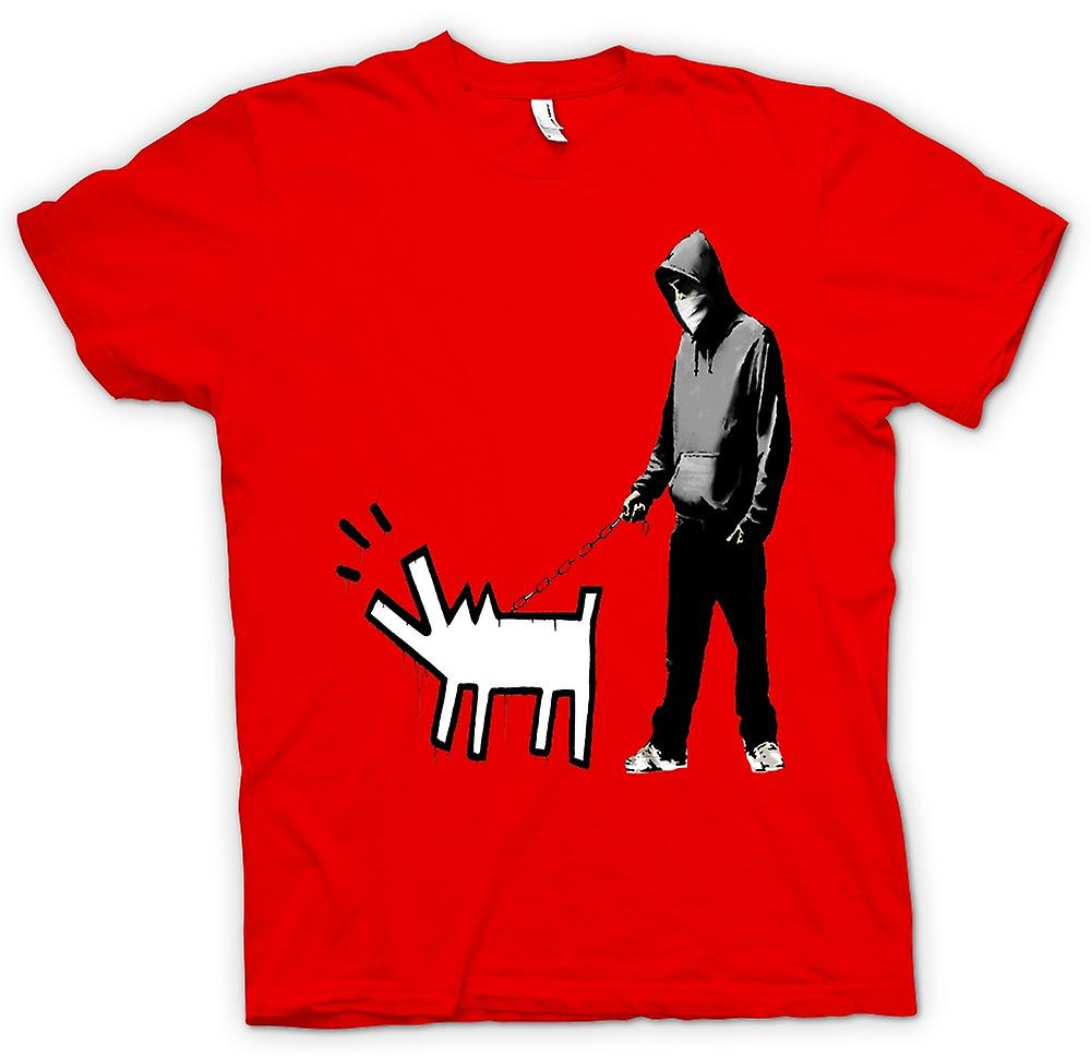 T-shirt Uomo - Banksy Walking Dog