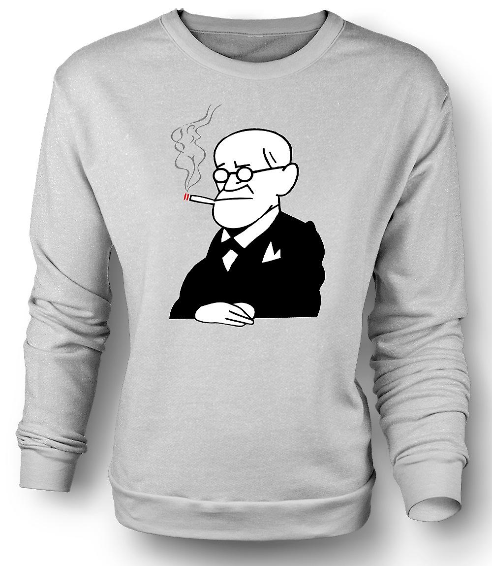Mens Sweatshirt Sigmund Freud - psykologi - Cartoon
