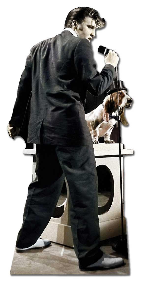 Canto di Elvis con Hound Dog - ritaglio di cartone Lifesize / Standee
