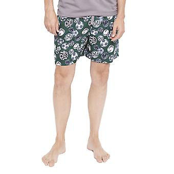 Cyberjammies 6339 Men's Alfie Grey Football Print Pyjama Short