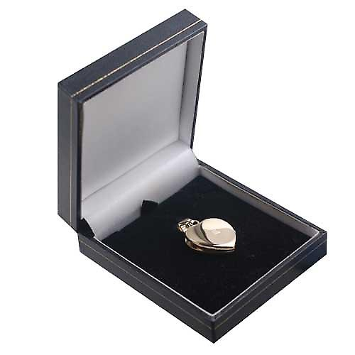 9ct Gold 24x20mm plain heart shaped Locket