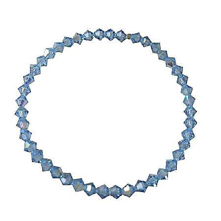 Lite Sapphire Crystals Swarovski Crystals Stretchable Bracelet