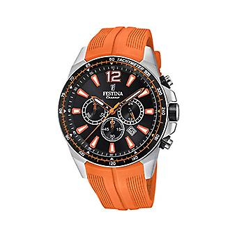 Festina watch Chronograph quartz men with strap in PU F20376/5