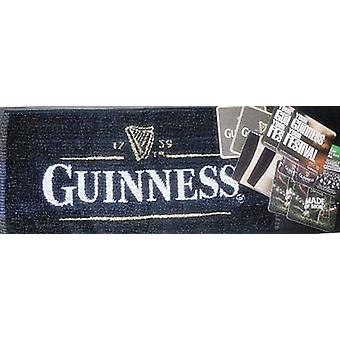 Guinness Bar Towel und 10 Bierdeckel (pp)