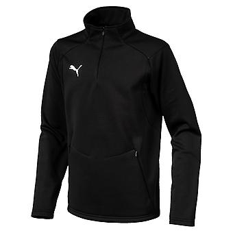 PUMA League training fleece Jr kids sweater, black and white