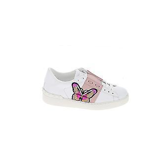 Valentino Garavani White/pink Leather Sneakers