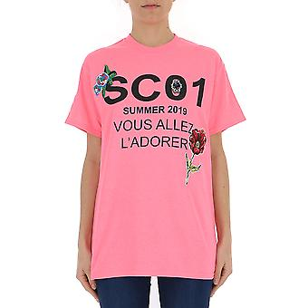 Semi-couture Pink Cotton T-shirt