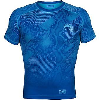 Venum Mens Fusion manches courtes Compression chemise - bleu
