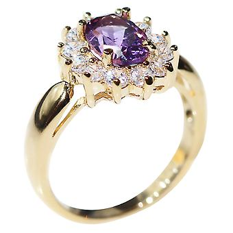 Ah! Jewellery Genuine Amethyst Ring. Gold Filled, Stamped GL