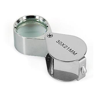 Jewellers Loupe 30 x 21mm Glass Jewellery Magnifier Eye Lens - By DIGIFLEX