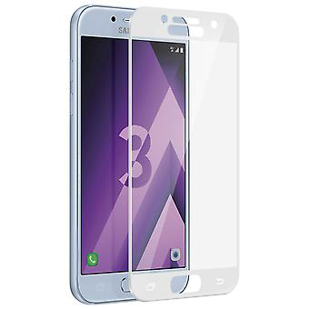 Ultra-tough Tempered Glass Film Galaxy A3 2017 Curved Sides - White