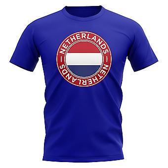 Netherlands Football Badge T-Shirt (Royal)