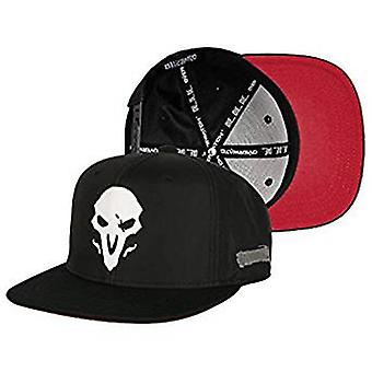 Baseball Cap - Overwatch - Reaper Wraith Logo Black Snap-Back Hat j8228