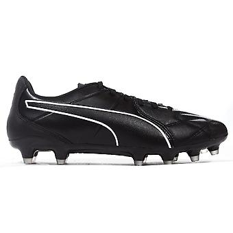 Puma King Hero FG Firm Ground Mens Adults Leather Football Boot Black