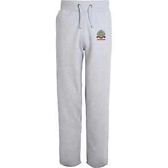 Bedfordshire Regiment Veteran - Licensed British Army Embroidered Open Hem Sweatpants / Jogging Bottoms