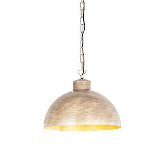 QAZQA Industrial hanging lamp taupe 35 cm - Magna Classic
