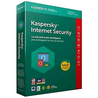 Kaspersky internet security 2018 license for 3 devices for 1 year full version (english)