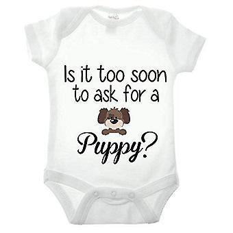 Is it too soon to ask for a puppy short sleeve babygrow
