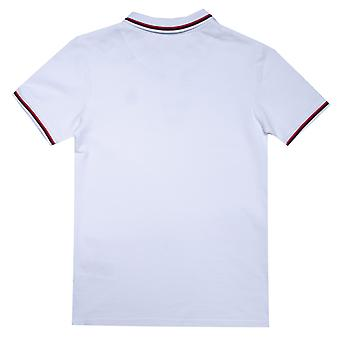 Infant Boys Original Penguin Contrast Tipping Polo Shirt in White