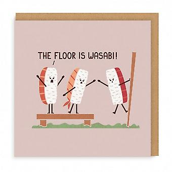 oh Deer The Floor Is Wasabi Square Greeting Card Oh Deer The Floor Is Wasabi Square Greeting Card Oh Deer The Floor Is Wasabi Square Greeting Card Oh De
