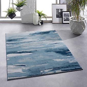 Artistic Blue  Rectangle Rugs Plain/Nearly Plain Rugs