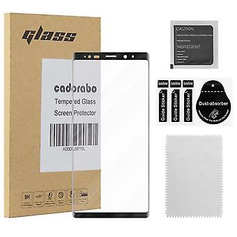 Cadorabo koko näytön säiliö folio Samsung Galaxy NOTE 9-karkaistu näyttö suojaava lasi 9H kovuus 3D Touch yhteensopivuus