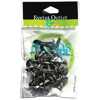 Eyelet Outlet 8Mm Brads Brushed Silver Brd8mm 247