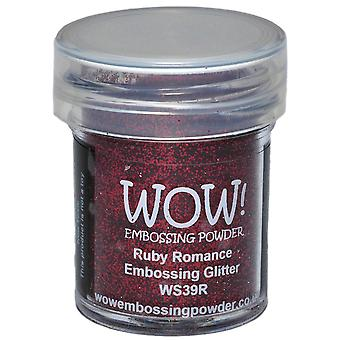 Wow ! Embossage poudre 15Ml Ruby Wow Romance Ws39r