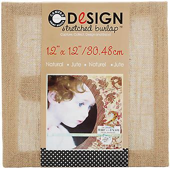 Stretched Burlap Natural 12