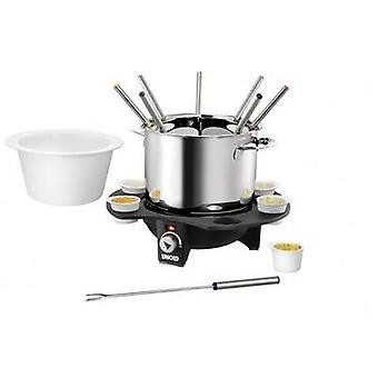 Fondue 1000 W with manual temperature settings Unold Elegance Stainless steel, Black