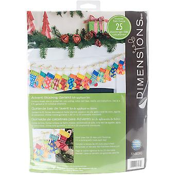 Advent Stocking Garland Felt Applique Kit-72