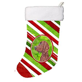 Redbone Coonhound Candy Cane Christmas Christmas Stocking