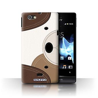 STUFF4 Custodia/Cover per Sony Xperia Miro/ST23I/cane/animale Stitch effetto
