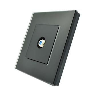 I LumoS Luxury Black Glass Virgin, Sky Satellite F Screw Type Single Socket