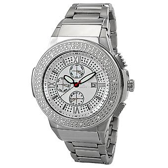 JBW diamond men's stainless steel watch SAXON - silver