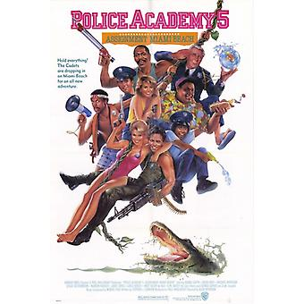 Police Academy 5 Assignment Miami Beach Movie Poster Print (27 x 40)