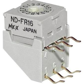 Rotary switch 5 Vdc 0.1 A Switch postions 16 NKK Switches NDFR16H 1 pc(s)