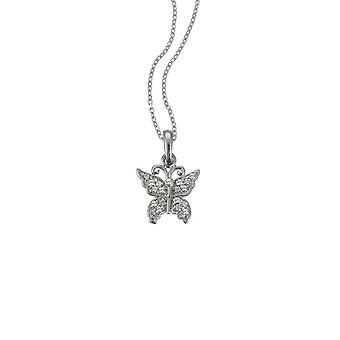Scout children necklace chain silver butterfly glitter girl 261087200
