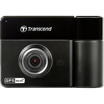 Dashcam with GPS Transcend DrivePro 520 Horizontal viewing angle=130 ° 12 V, 24 V Twin cam, Microphone, Battery, Displa