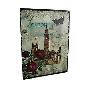 Colgante de pared decorativo Londres Big Ben cristal Floral