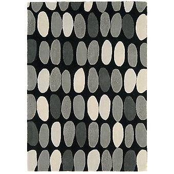 Matrix Grey Pebbles Wool  Viscose Modern Rug