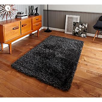 Grey Anti Shed Shaggy Rug Seattle