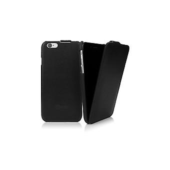 Caseual Läderflip For iPhone 6/6S-sort