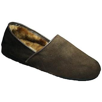 Mirak David Suede Classic Mens Slippers Textile Leather PVC Slip On Fastening
