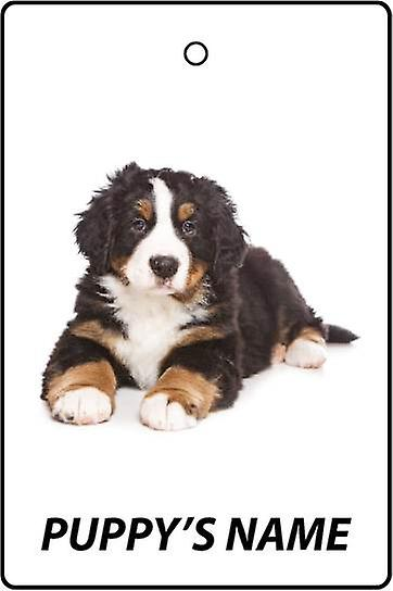 Gepersonaliseerde Bernese Mountain Dog Puppy auto luchtverfrisser